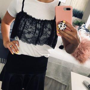 Zara | Babydoll Lace Tee Size Small (A)